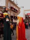 desfile de los gigantes de ribadavia (d. pedro y doña ana)  en la fiesta de la historia de ribadavia