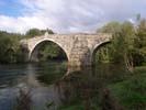ponte romana de san clodio en leiro